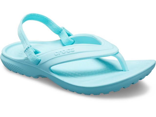 Crocs Classic Flache Sandalen Kinder ice blue